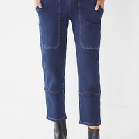 UO Max Contrast Stitch Straight-Leg Jean | Urban Outfitters