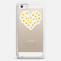 DAISY HEART Crystal Clear iPhone Case iPhone 5s case by Monika Strigel | Casetagram