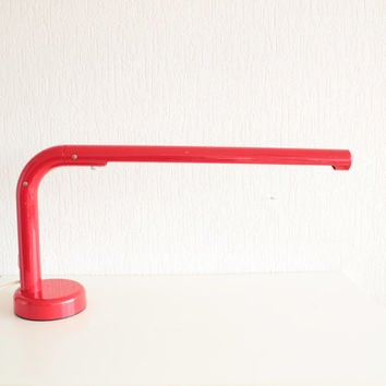 Anders Pehrson Tuben Modern Plastic TubeTable Lamp from  Sweden in very HOT Red color