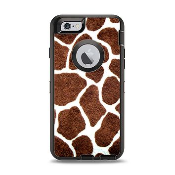 The Real Giraffe Animal Print Apple iPhone 6 Otterbox Defender Case Skin Set