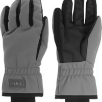 Fendi - Padded twill and canvas ski gloves