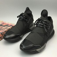 Adidas Y-3 Casual light couples tide shoes comfortable breathable men and women black warrior sports running shoes