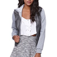 LA Hearts French Terry Skater Skirt - Womens Skirt - Gray