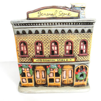 Colonial Village Christmas House By Lefton General Store 1986 Re