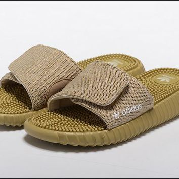"""Adidas"" Women Men Yeezy Boost Khaki Sandals"