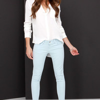 Billie Jean Light Blue Skinny Jeans