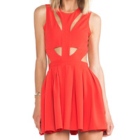 Lovers + Friends Cutting Corners Dress in Red