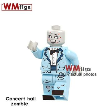 PG1552 Concert Hall Zombie Suit Horror Bricks Building Blocks Kits Surprise Gifts Funny Doll Toys for Children Halloween Girls