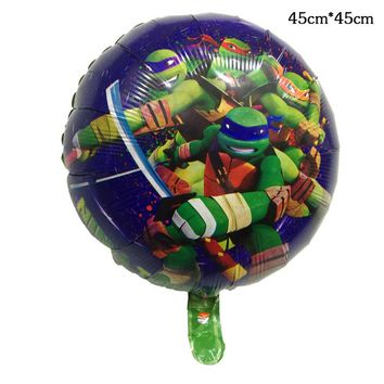 ninja turtle Balloons 1pcs 18 inch aluminum Helium balloon ball children birthday party decoration ecorative toys self-sealing