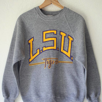 Vintage Louisiana State University LSU Ncaa College 1980s Champion Reverse Weave Sweatshirt // LSU Tigers // vintage sweatshirt XL M0l5i2W