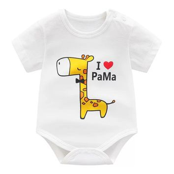tiny cottons 2018 baby summer clothes for newborns unisex baby clothes , i love mom new born baby girl boy vestido infantil