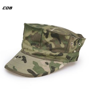 CQB Outdoor Sports Army Fans Octagonal Cap Men Military Training Tactical Hats for Fishing Sunshade Cycling Hat