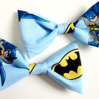 Blue Batman Hair Bows (set of two)