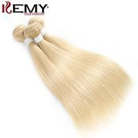 Ombre Blonde Human Hair Weave Bundles 1 PC Brazilian Straight Human hair Extensions