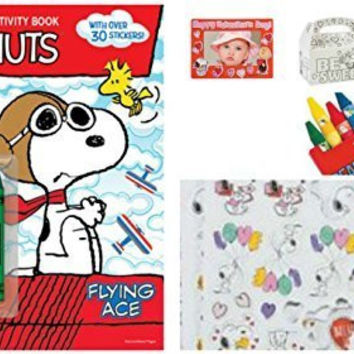 Peanuts, Snoopy, Charlie Brown, Lucy Character's Valentine's Day Activity Bundle Set of 6