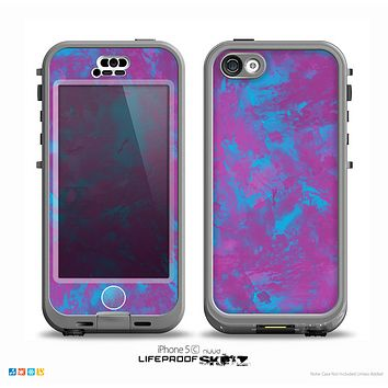 The Purple and Blue Paintburst Skin for the iPhone 5c nüüd LifeProof Case