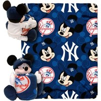 New York Yankees Mickey Mouse Uniform Hugger Blanket