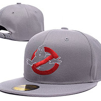 HAIHONG Ghostbusters Logo Adjustable Snapback Embroidery Hats Caps - Grey