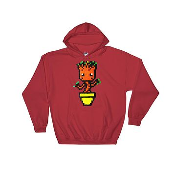 Baby Groot Perler Art Hooded Sweatshirt by Aubrey Silva