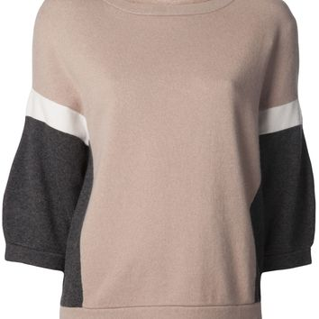 Brunello Cucinelli Cashmere Colorblock Sweater