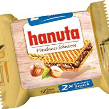 Ferrero Hanuta Chocolate Hazelnut Candy Wafers 36 count