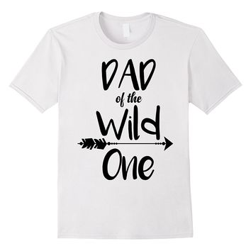 Mens Boho Dad Of The Wild One 1st Birthday Funny Matching Shirt