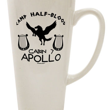 Cabin 7 Apollo Camp Half Blood 16 Ounce Conical Latte Coffee Mug