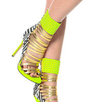 Strapped in 14k Tribal Contrast Heels
