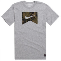 Nike SB Dri-Fit Ribbon T-Shirt - Mens Tee - Gray -