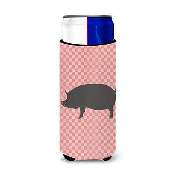 Berkshire Pig Pink Check Michelob Ultra Hugger for slim cans