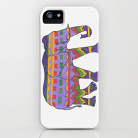 Tribal Elephant iPhone & iPod Case by Sarah Hinds