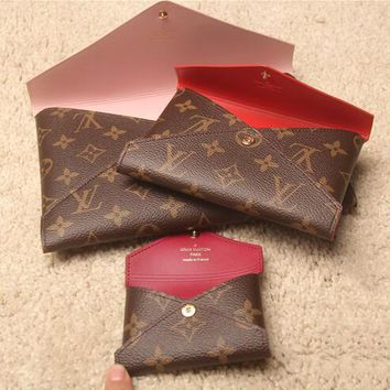 LV Trending Women Stylish Monogram Leather Handbag Tote Envelope Bag Tote Three-Piece