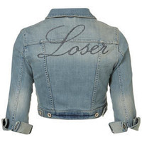 MOTO Loser Embroidered Jacket - New In This Week  - New In