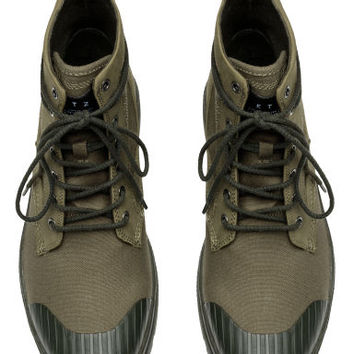 Chunky-soled boots - Khaki green - Men | H&M GB