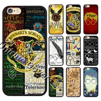 Harry Potter Case For iphone 4 5/5s/5se 6/6s 7 6/7 plus 6s plus TPUPC Hogwarts School Case Phone Cover for Ipod Touch 5/6th Case