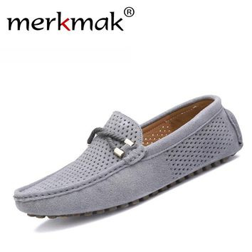Leather mocassin soft breathable men flats loafers