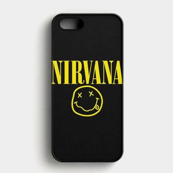 Nirvana On Floral Art Kurt Cobain Dave Grohl iPhone SE Case