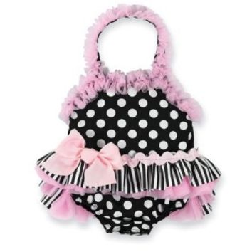 Mud Pie Baby-girls Newborn Perfectly Princess Bathing Suit, Multi, 12-18 Months