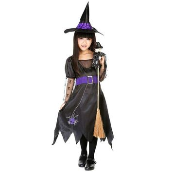 Witch Halloween costumes for girls kids Carnival costumes for children children's costumes party dress cosplay costume fancy