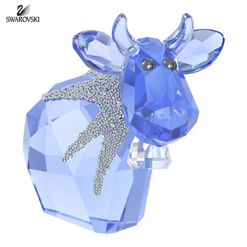 Swarovski Blue Crystal Figurine LovLots ICE MO Cow 2015 #5166275