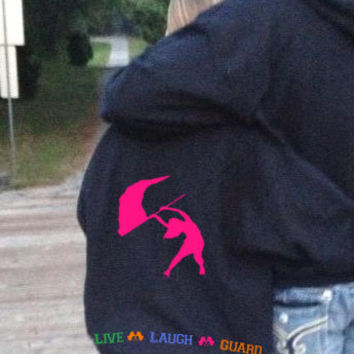 LiVe LaUgH GuArD Personalized Custom Name Color Winter Guard Flag Hoodie Sweatshirt S M L XL Unisex Hoody Hooded sweater COLORS Available