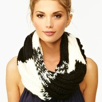 Patchwork Knit Scarf