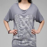 Knife Print Tee Viscose