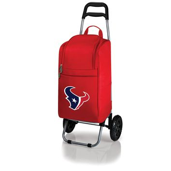 Houston Texans - Cart Cooler with Trolley (Red)