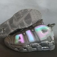 """Nike Air More Up Tempo  """"Chameleon"""" Gray Sneakers"""