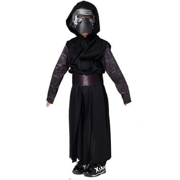 S-L Children Halloween Darth Vader Role play Costumes Boys Movie Star Wars Cosplay masked ball Carnival Masquerade party dress