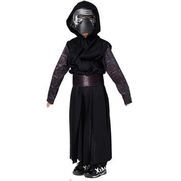 Star Wars Force Episode 1 2 3 4 5 Boys Deluxe  The Force Awakens Kylo Ren Classic Cosplay Clothing Kids Halloween Movie Costume AT_72_6