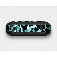 The Vector Hot Turquoise Cheetah Print Skin Set for the Beats Pill Plus
