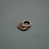 Tribal septum ring for pierced nose / 14g / Ethnic septum / Septum jewelry / Nose jewelry / Tribal body jewelry / Belly dance jewelry