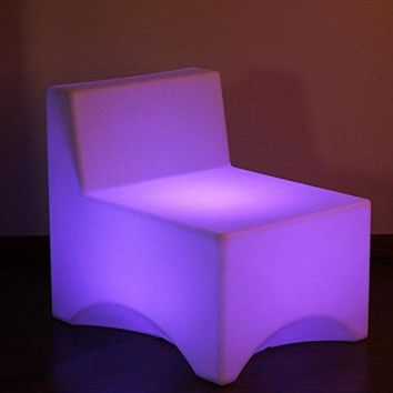 Set of 2 LED Lighted Color Changing Outdoor Patio Lounge Chairs with Remote - Multi Lights